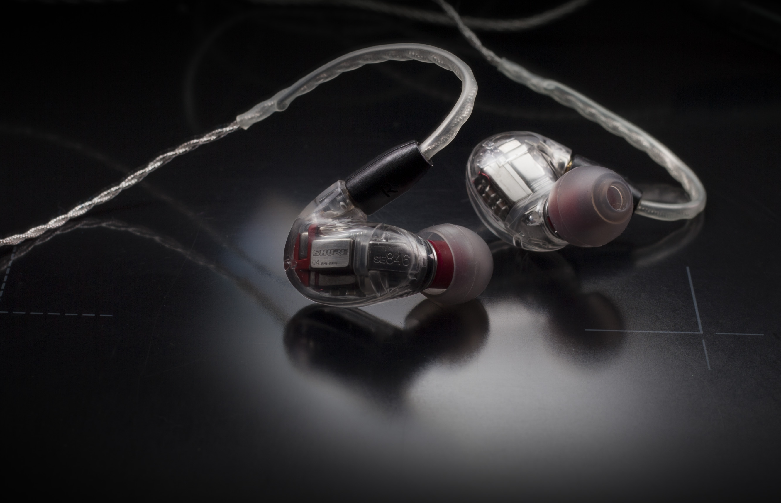 shure with tips and cable
