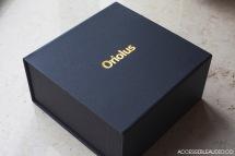 An elegant black and gold foil embossed box.